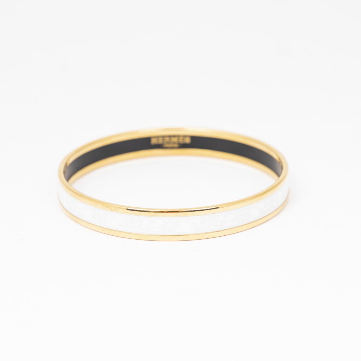 Hermes \N Armband in  Weiss Stahl