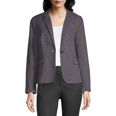 Liz Claiborne One Button Blazer - Tall, Medium Tall , Black