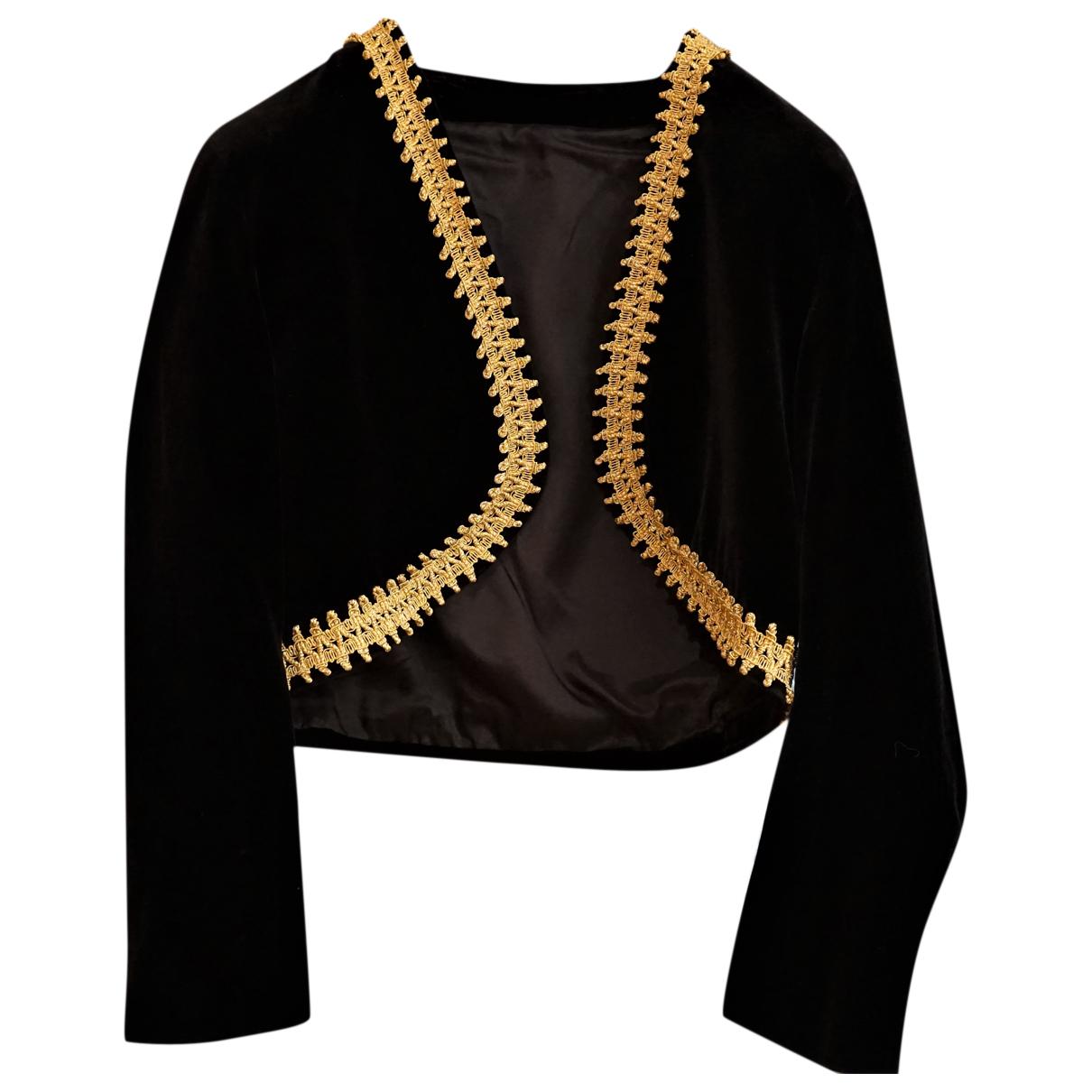Burberry - Veste   pour femme en coton - noir