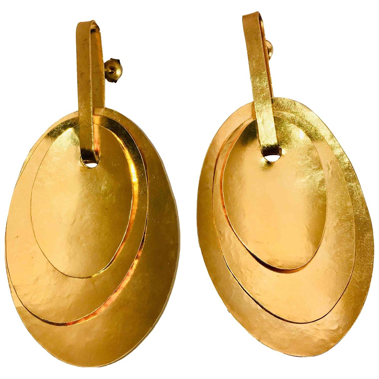 Herve Van Der Straeten - Boucles doreilles   pour femme en plaque or - dore