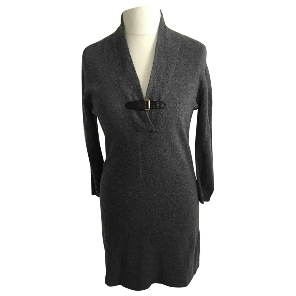 Massimo Dutti \N Kleid in  Grau Wolle