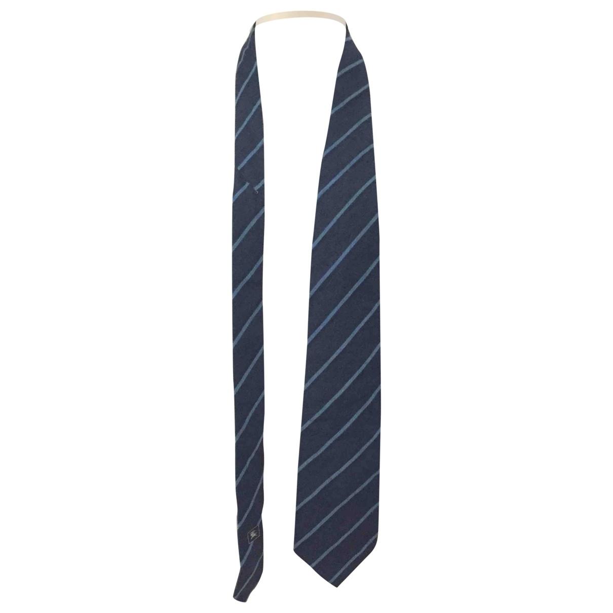 Burberry - Cravates   pour homme en coton - bleu