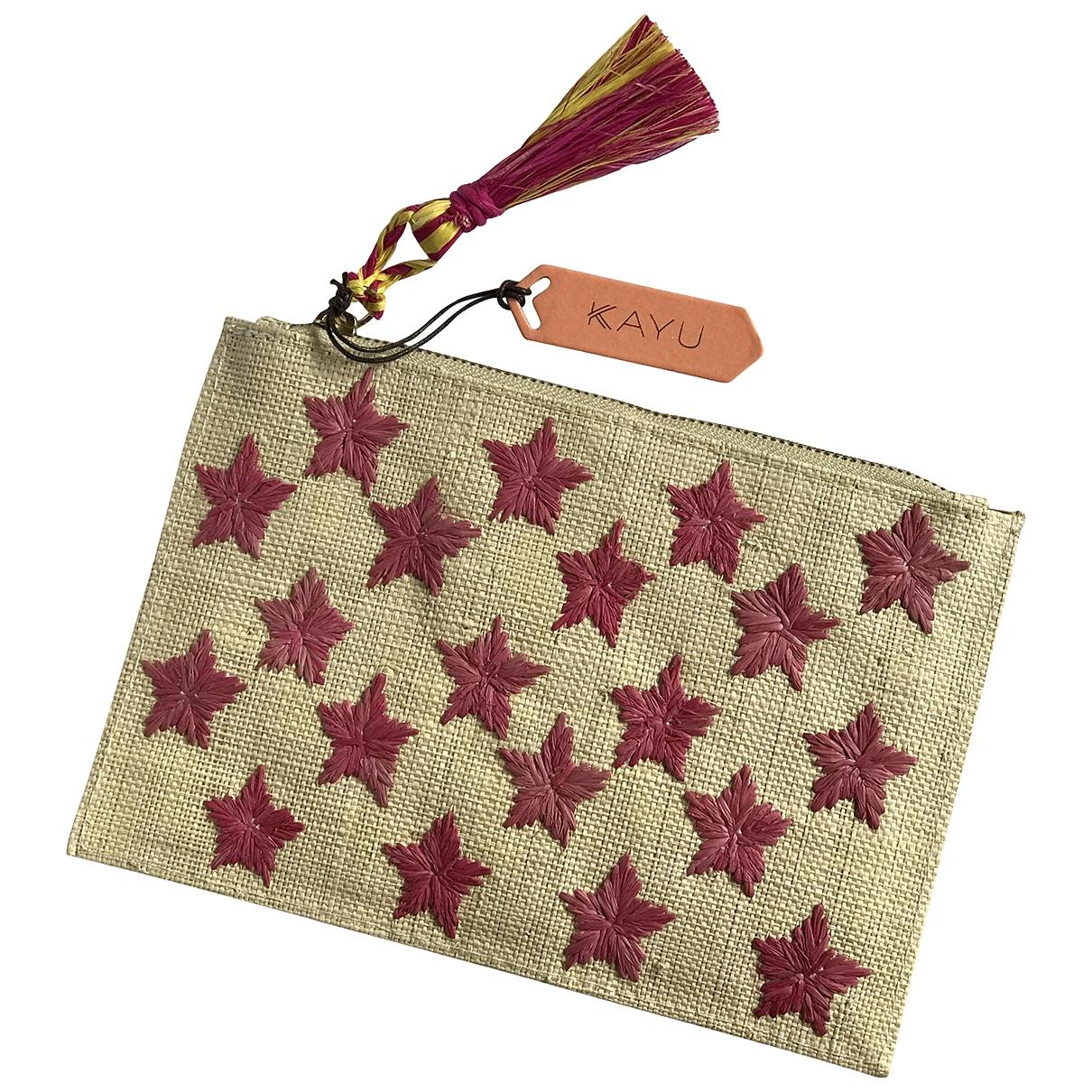 Kayu \N Beige Wicker Clutch bag for Women \N