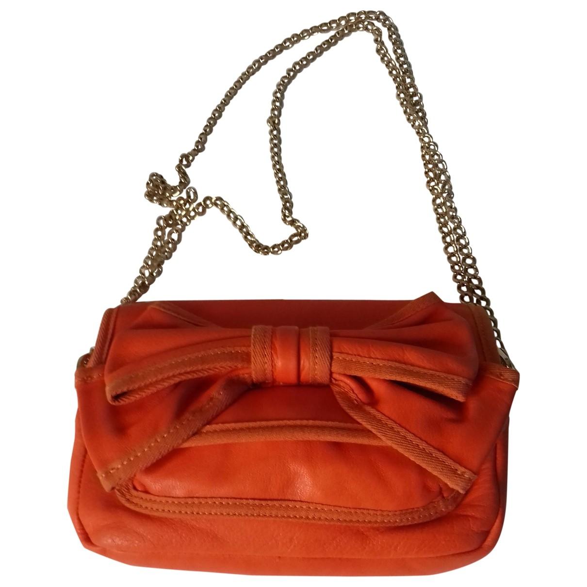 Red Valentino Garavani - Sac a main   pour femme en cuir - orange