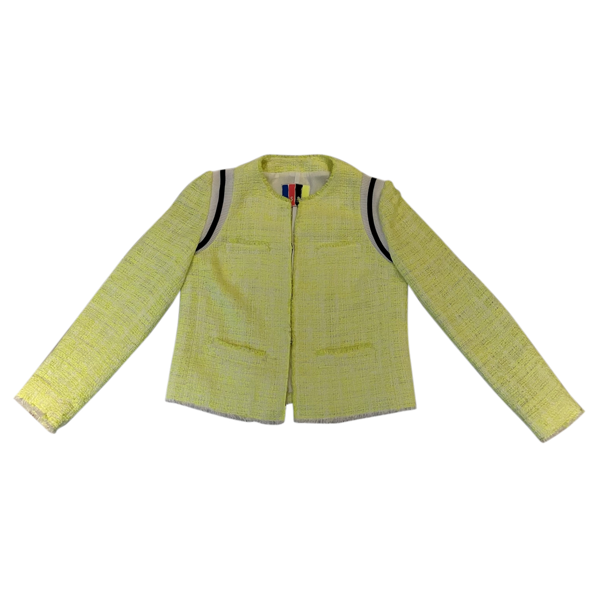 Msgm N Yellow Cotton jacket for Women 46 IT