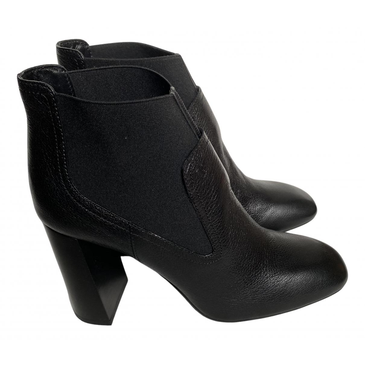 Tod's - Boots   pour femme en cuir - noir