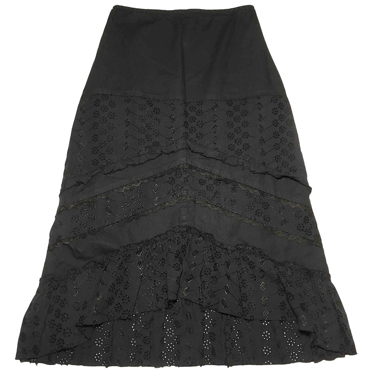 Liu.jo \N Black Cotton skirt for Women 40 IT