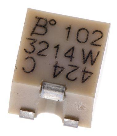 Bourns 1kΩ, SMD Trimmer Potentiometer 0.25W Top Adjust , 3214 (5)