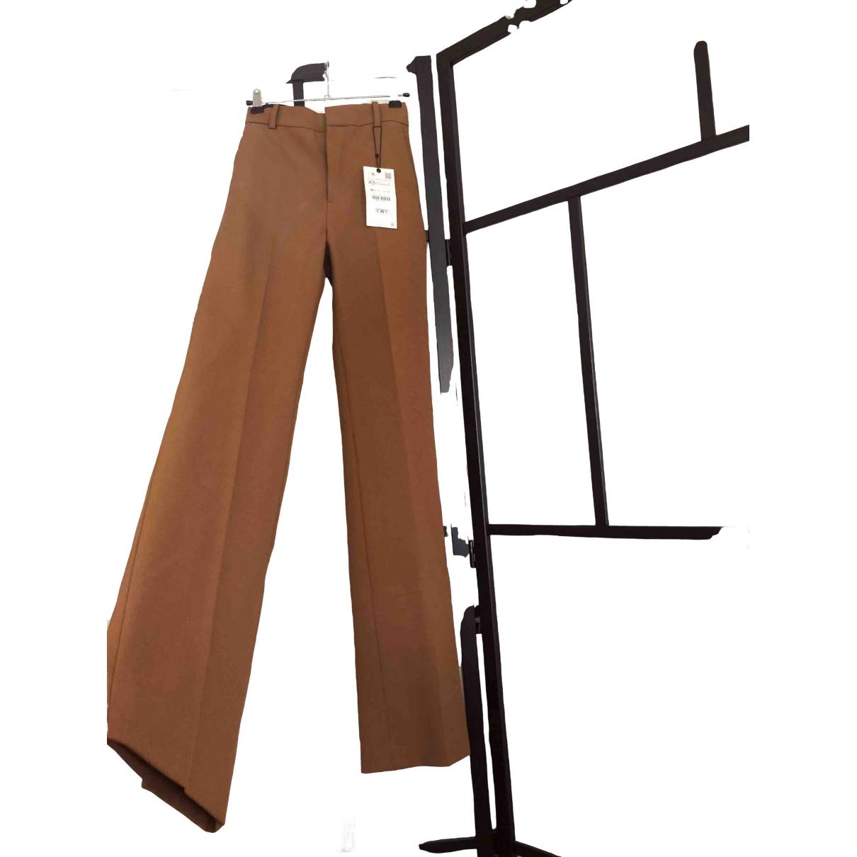 Zara \N Brown Trousers for Women XS International