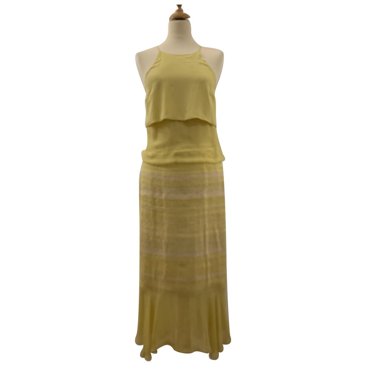 Chanel \N Kleid in  Gelb Seide