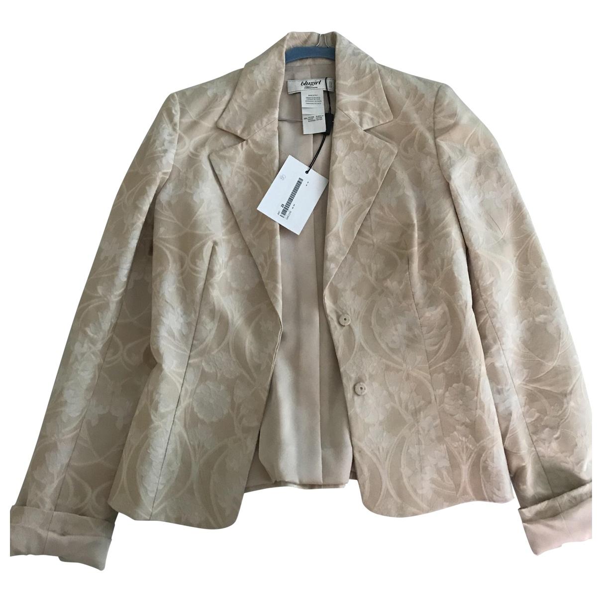 Blumarine \N Beige Cotton jacket for Women 38 IT