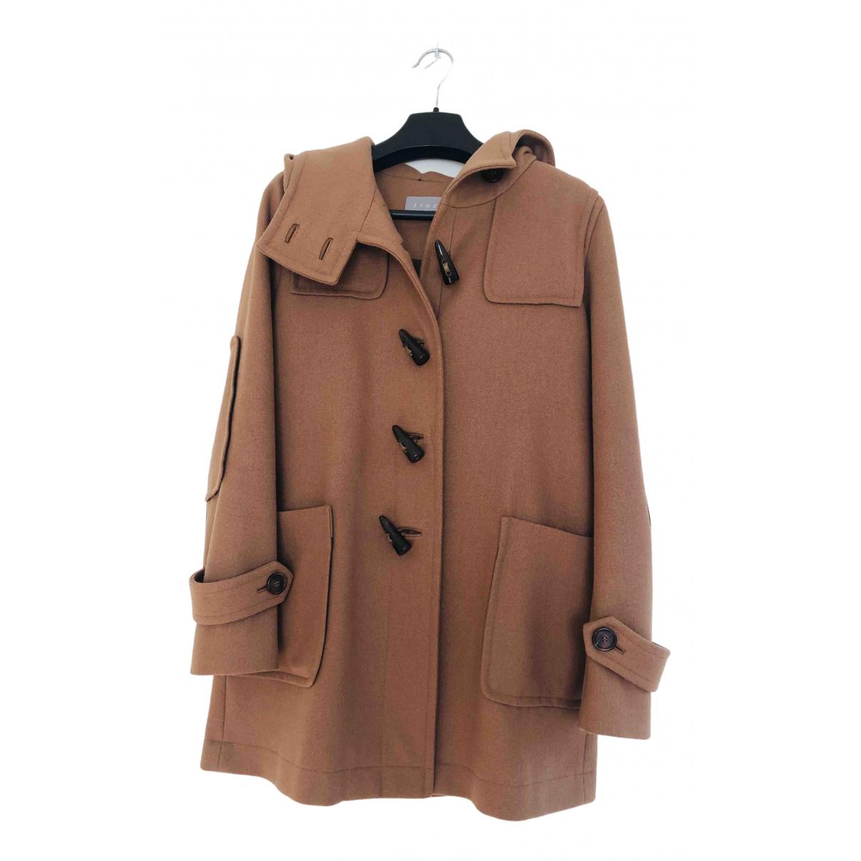 Jigsaw \N Camel Wool coat for Women 6 UK