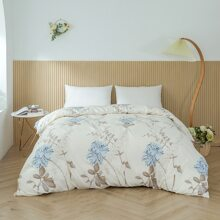 Bettbezug Set mit Blumen Muster ohne Fuellstoff
