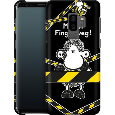 Samsung Galaxy S9 Plus Smartphone Huelle - Finger Weg von Sheepworld