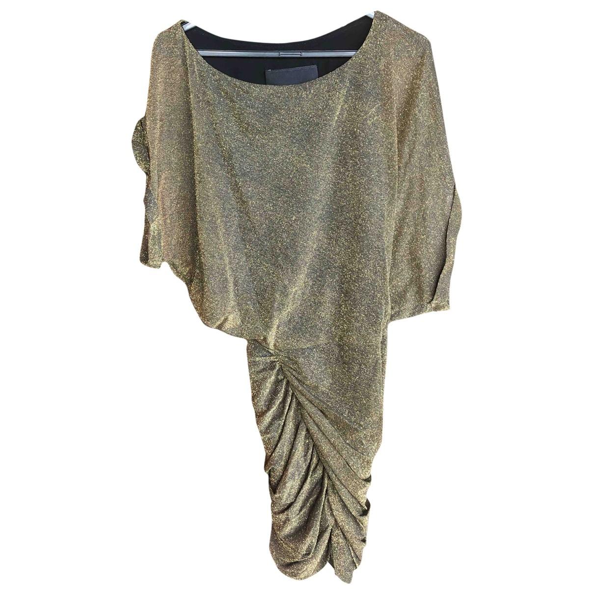 Jay Ahr \N Kleid in  Gold Mit Pailletten