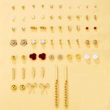 30 Stuecke Maedchen Ohrringe mit Kunstperlen Dekor