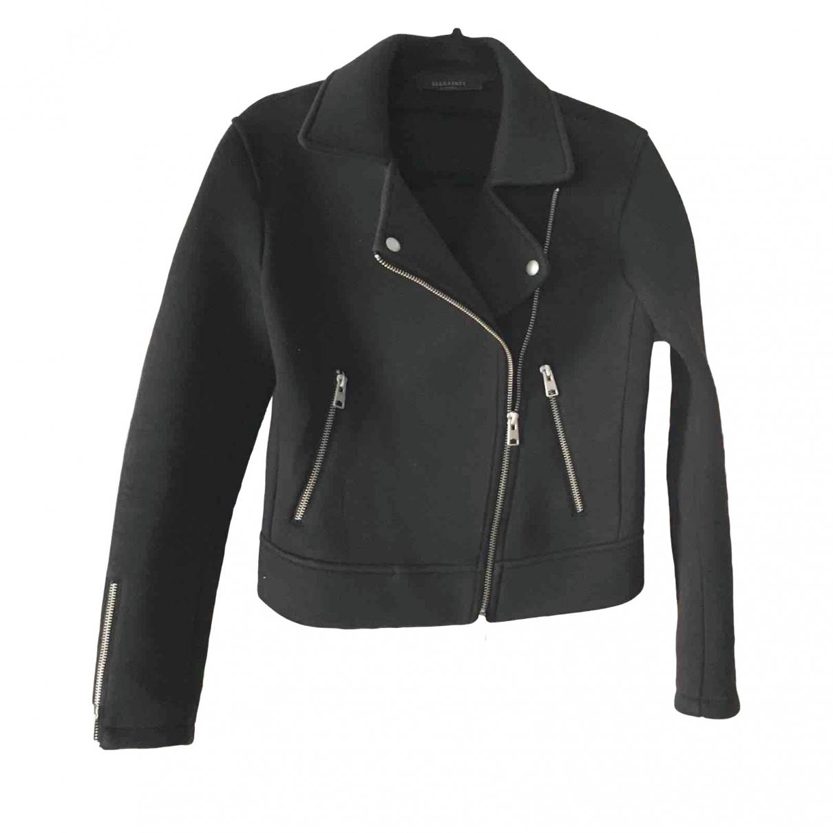 All Saints \N Black Cotton jacket for Women XS International