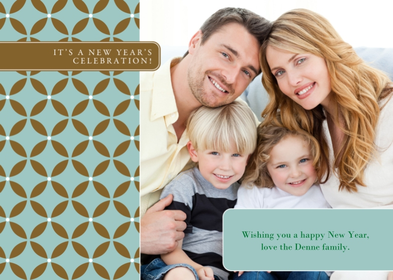 New Year's Photo Cards 5x7 Cards, Standard Cardstock 85lb, Card & Stationery -Graphic New Year