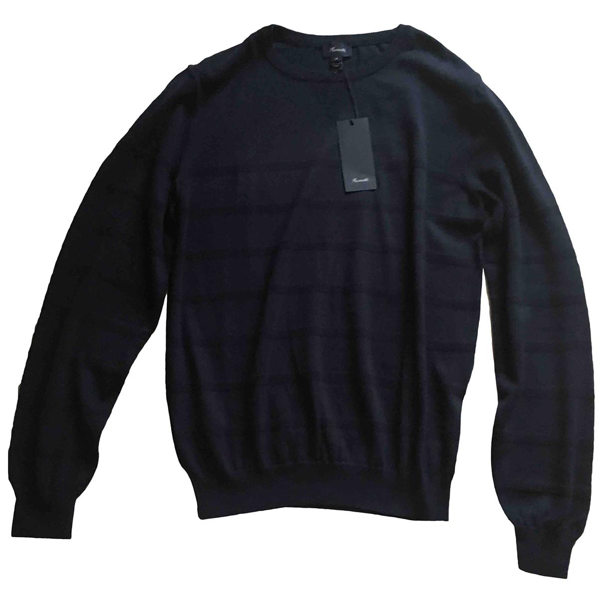 Faconnable N Navy Cotton Knitwear & Sweatshirts for Men M International