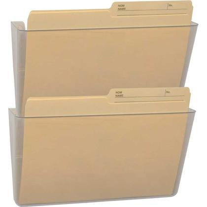 Storex® Snap and Stack Wall Pockets Files - Clear, Letter / Legal Size