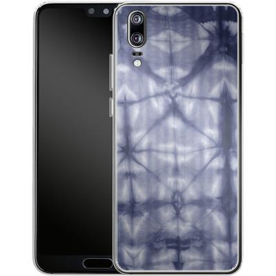 Huawei P20 Silikon Handyhuelle - Tie Dye 2 Navy von Amy Sia