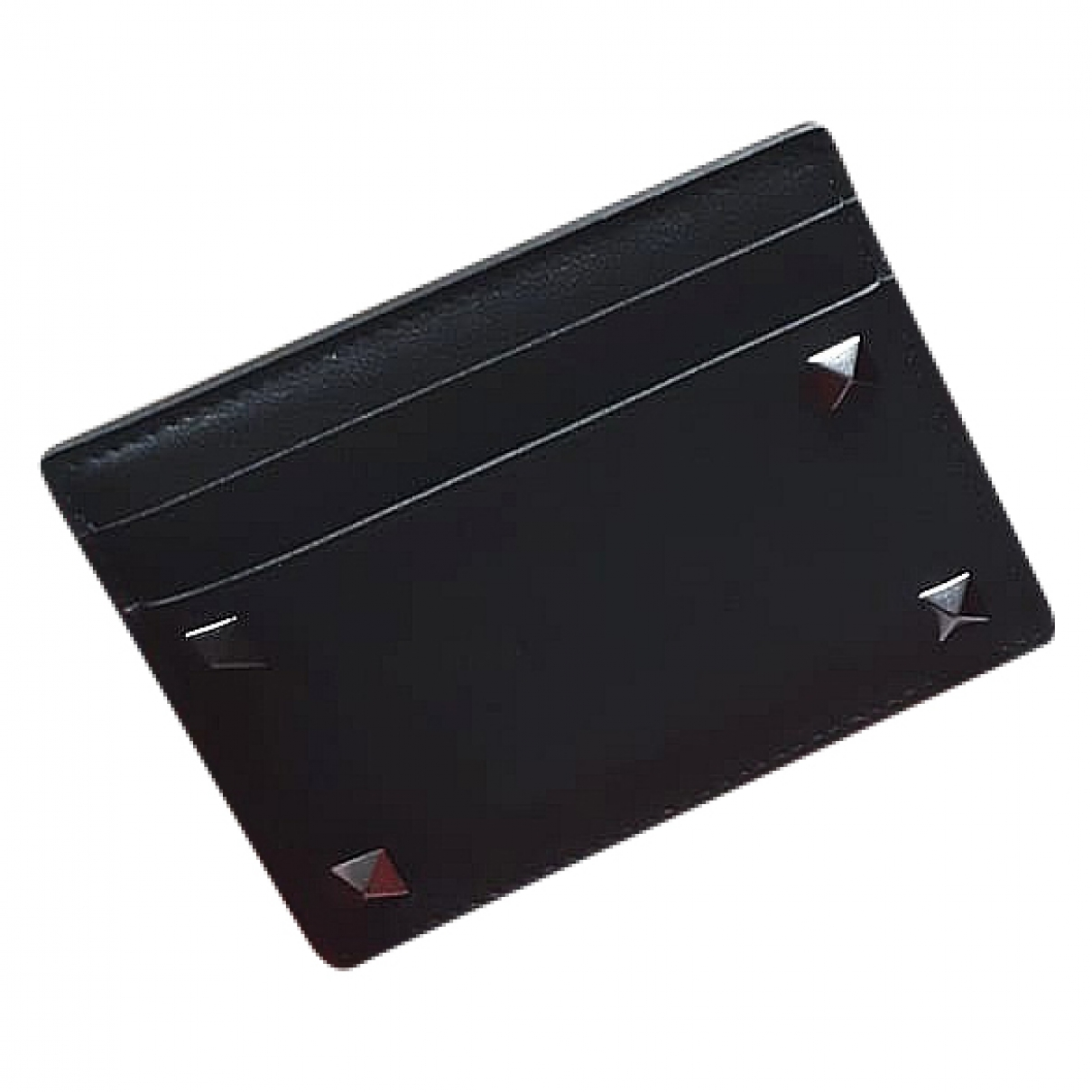 Valentino Garavani \N Kleinlederwaren in  Schwarz Leder
