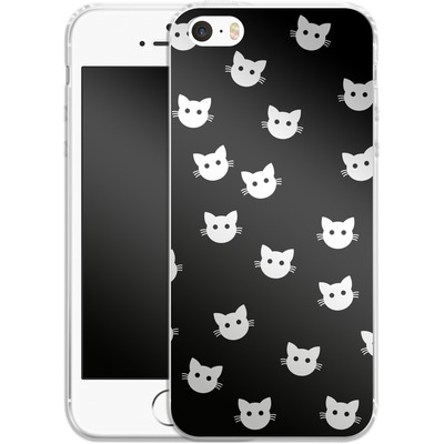 Apple iPhone 5 Silikon Handyhuelle - Cat Pattern von caseable Designs