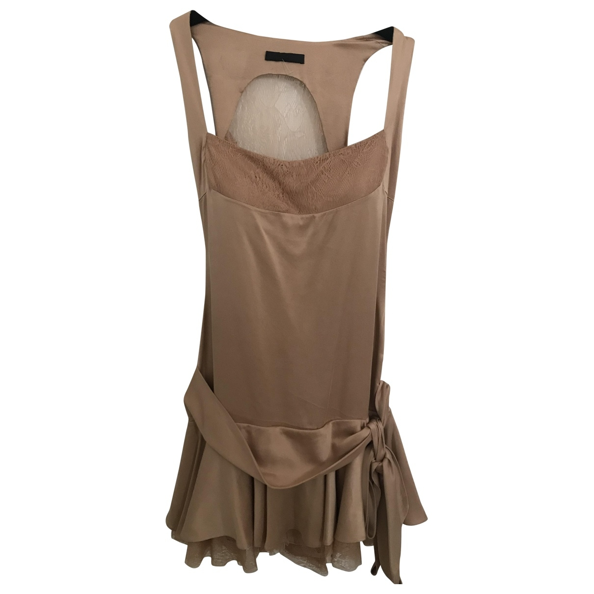 Jasmine Di Milo \N Beige Silk dress for Women 10 UK