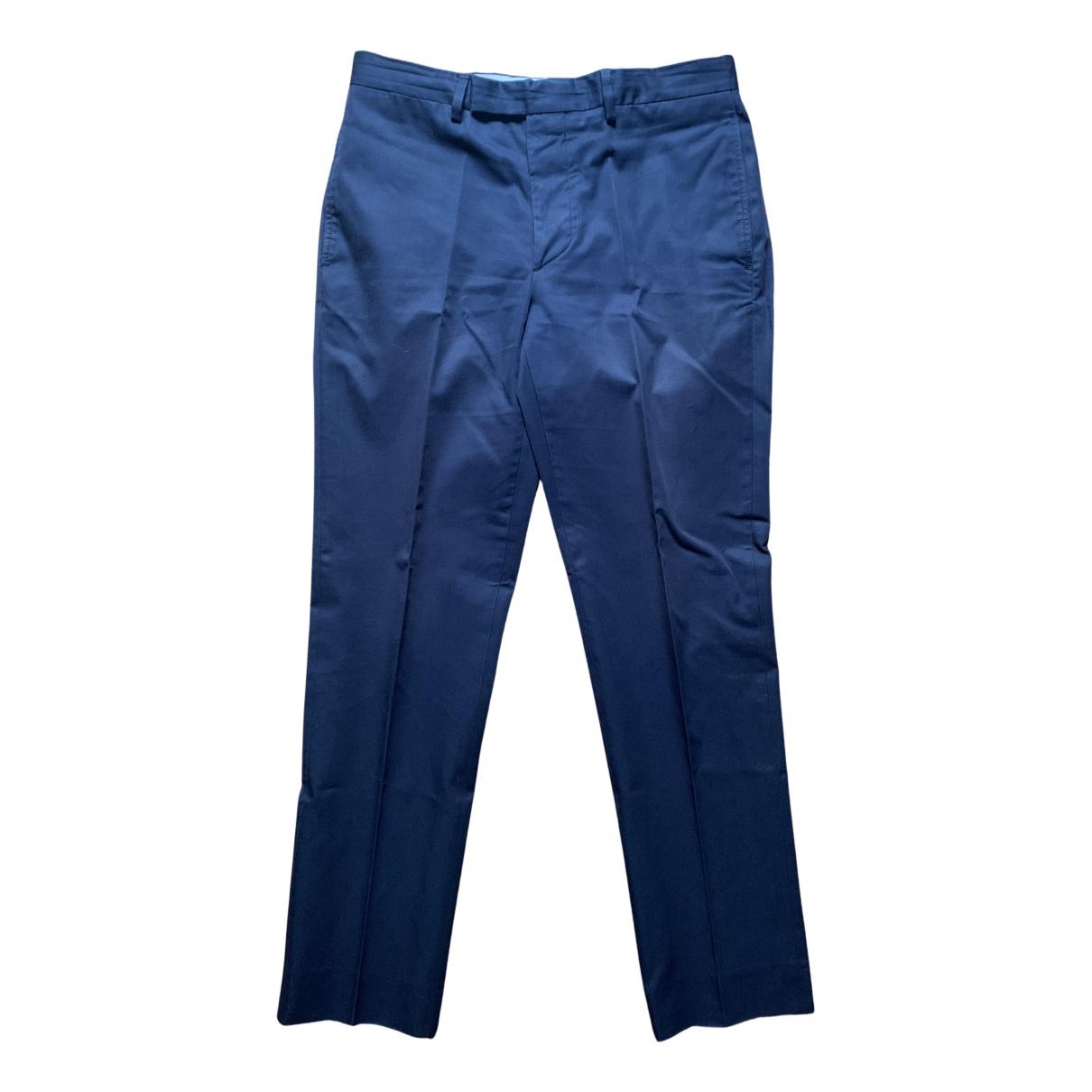 Pantalones en Algodon Marino Officine Generale