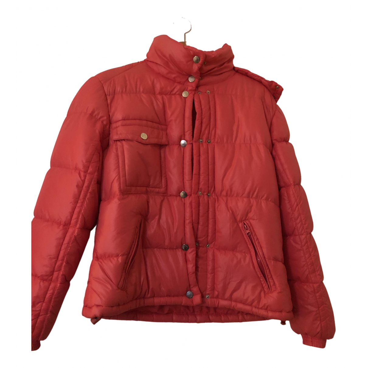 Moncler - Manteau Fur Hood pour femme - rouge