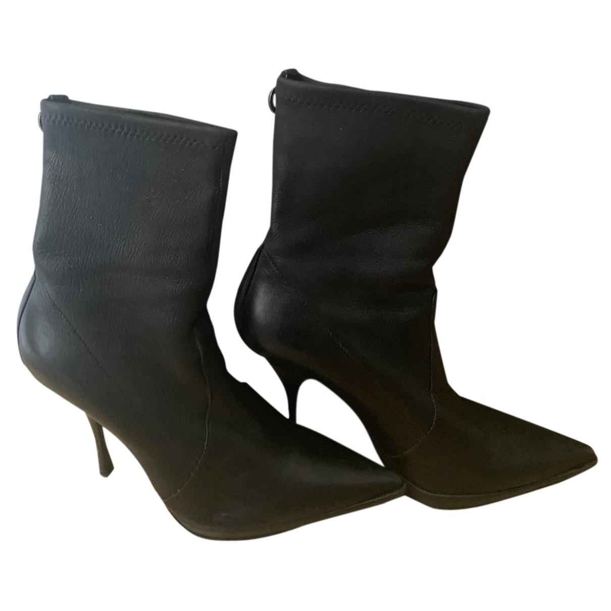 Casadei \N Stiefeletten in  Schwarz Leder