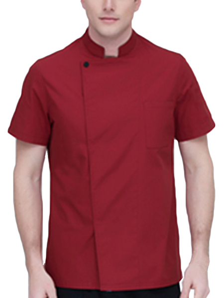 Yoins INCERUN Men Chefs Short Sleeve Top Professional Catering Cooks Work Shirt