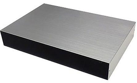Takachi Electric Industrial YM, Black & Silver Aluminium Project Box, 115 x 80 x 20mm