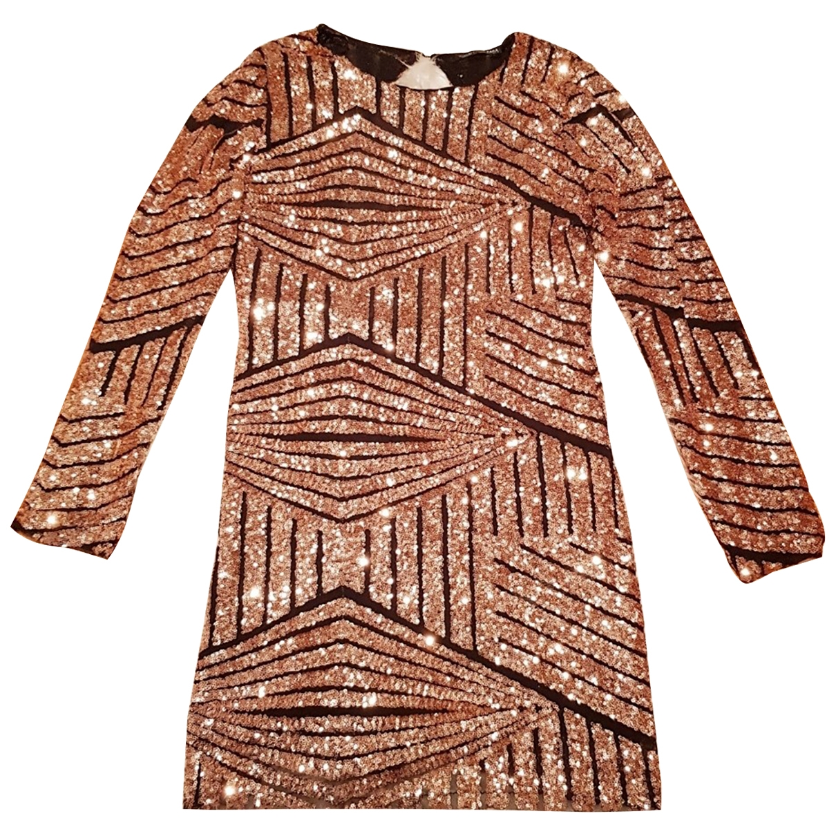 Zara - Robe   pour femme en a paillettes - dore