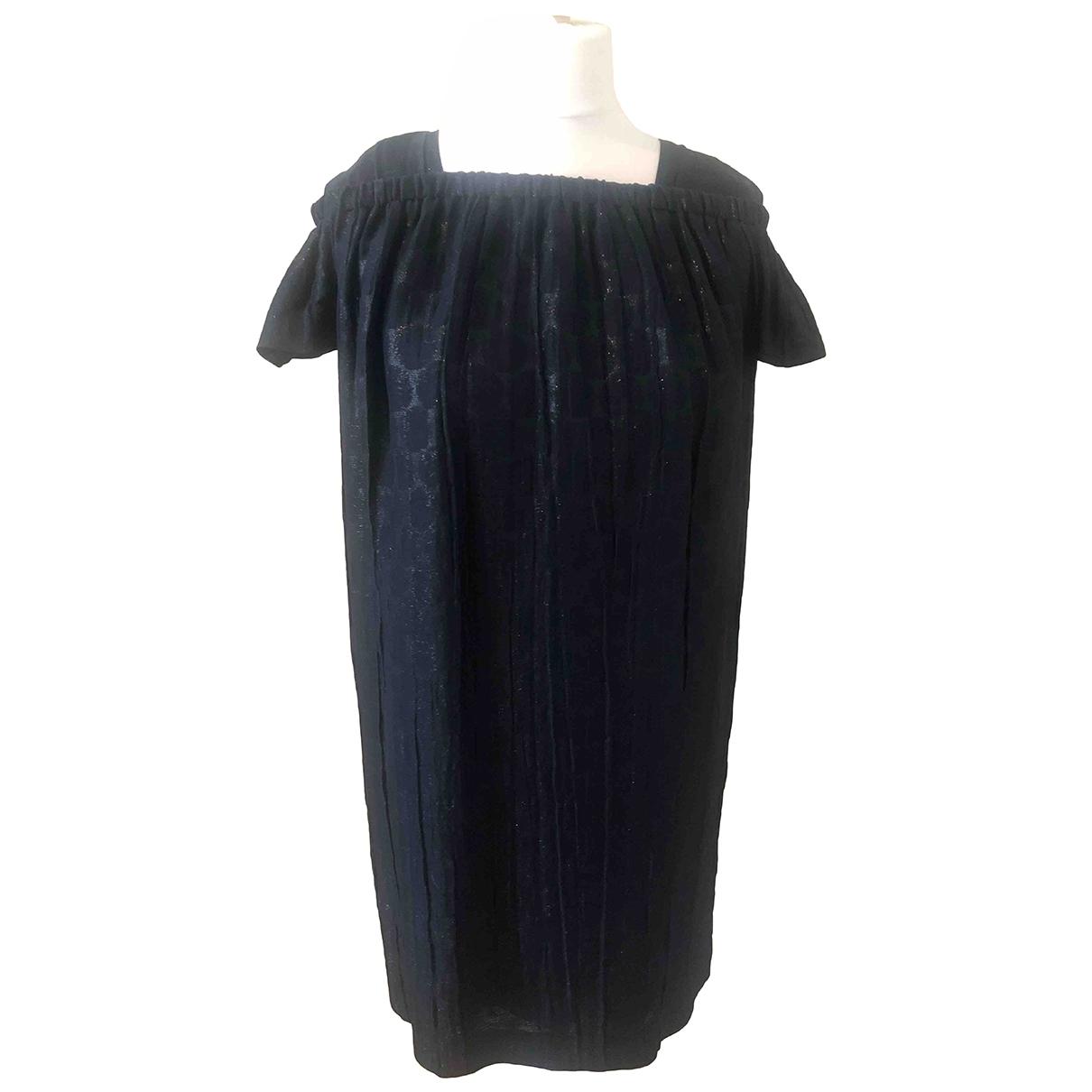 Vestido midi de Seda Burberry