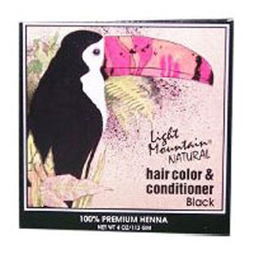 Natural Hair Color and Conditioner Black 4 Oz by Light Mountain