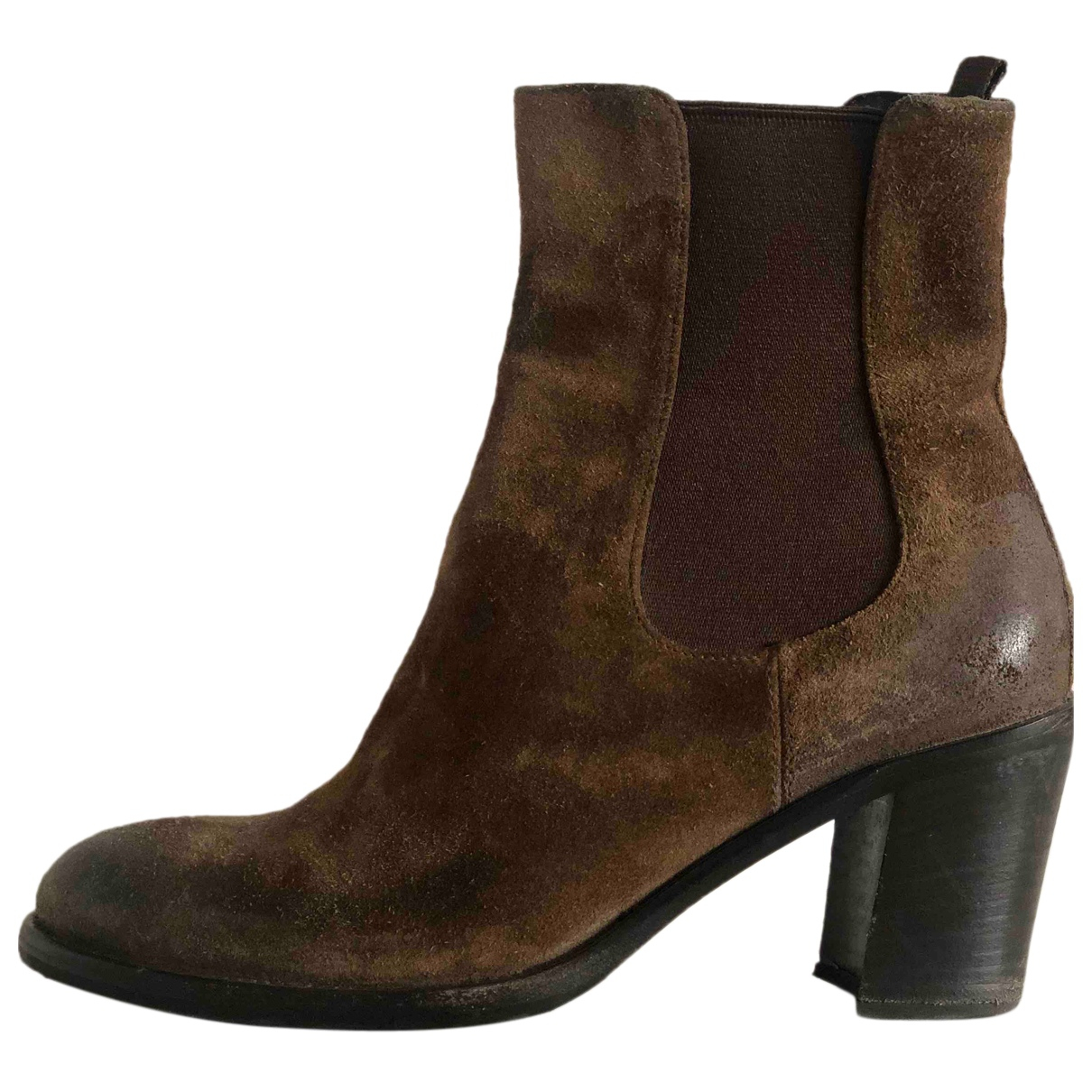 Prada N Brown Suede Boots for Women 36 IT