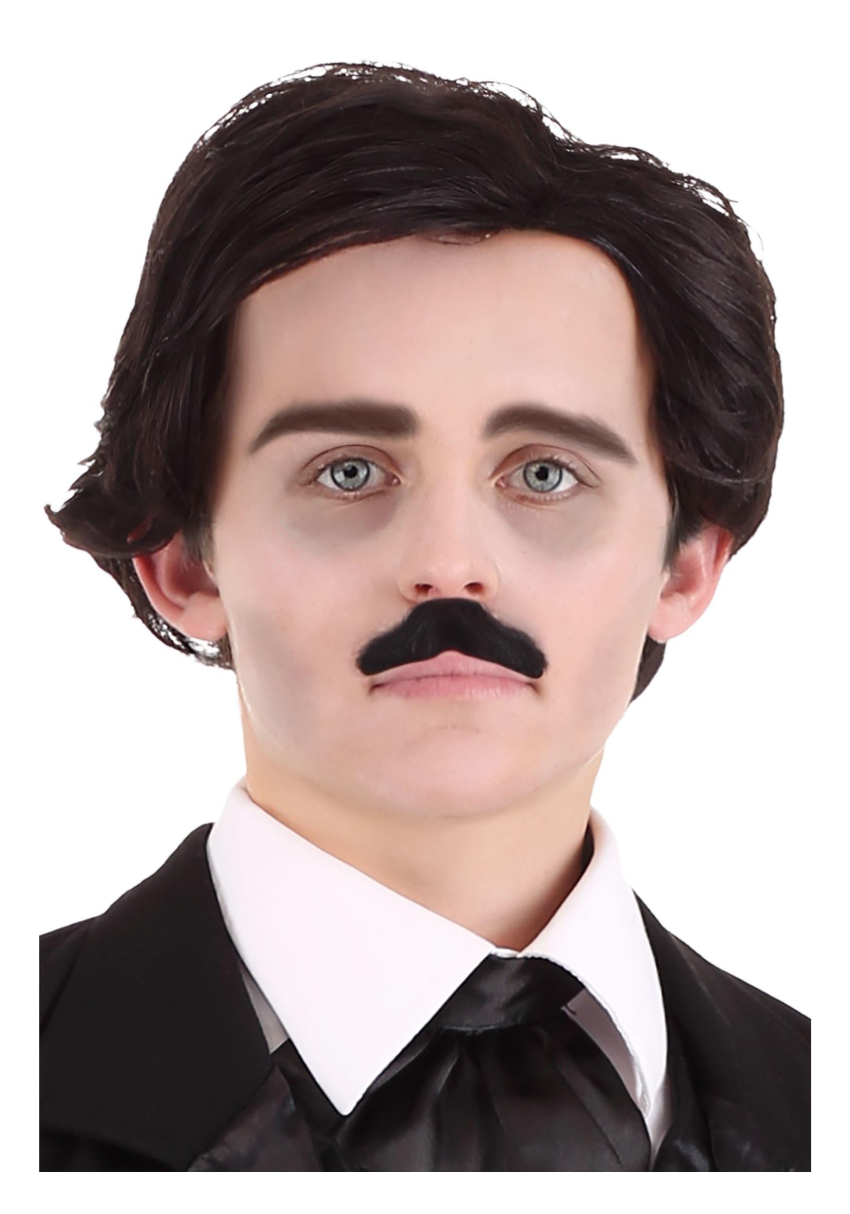Edgar Allan Poe Wig & Mustache