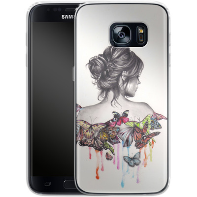 Samsung Galaxy S7 Silikon Handyhuelle - Butterfly Effect von Kate Powell