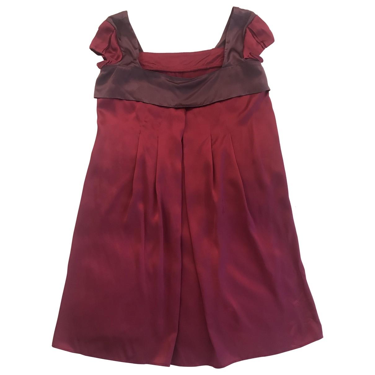 - Robe Oversize pour femme en soie - bordeaux