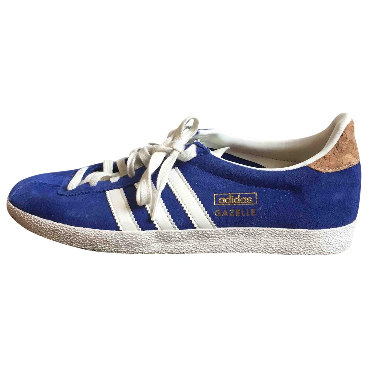 Adidas - Baskets Gazelle pour femme en suede - bleu