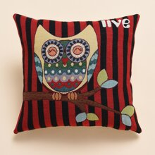 Owl Print Cushion Cover Without Filler