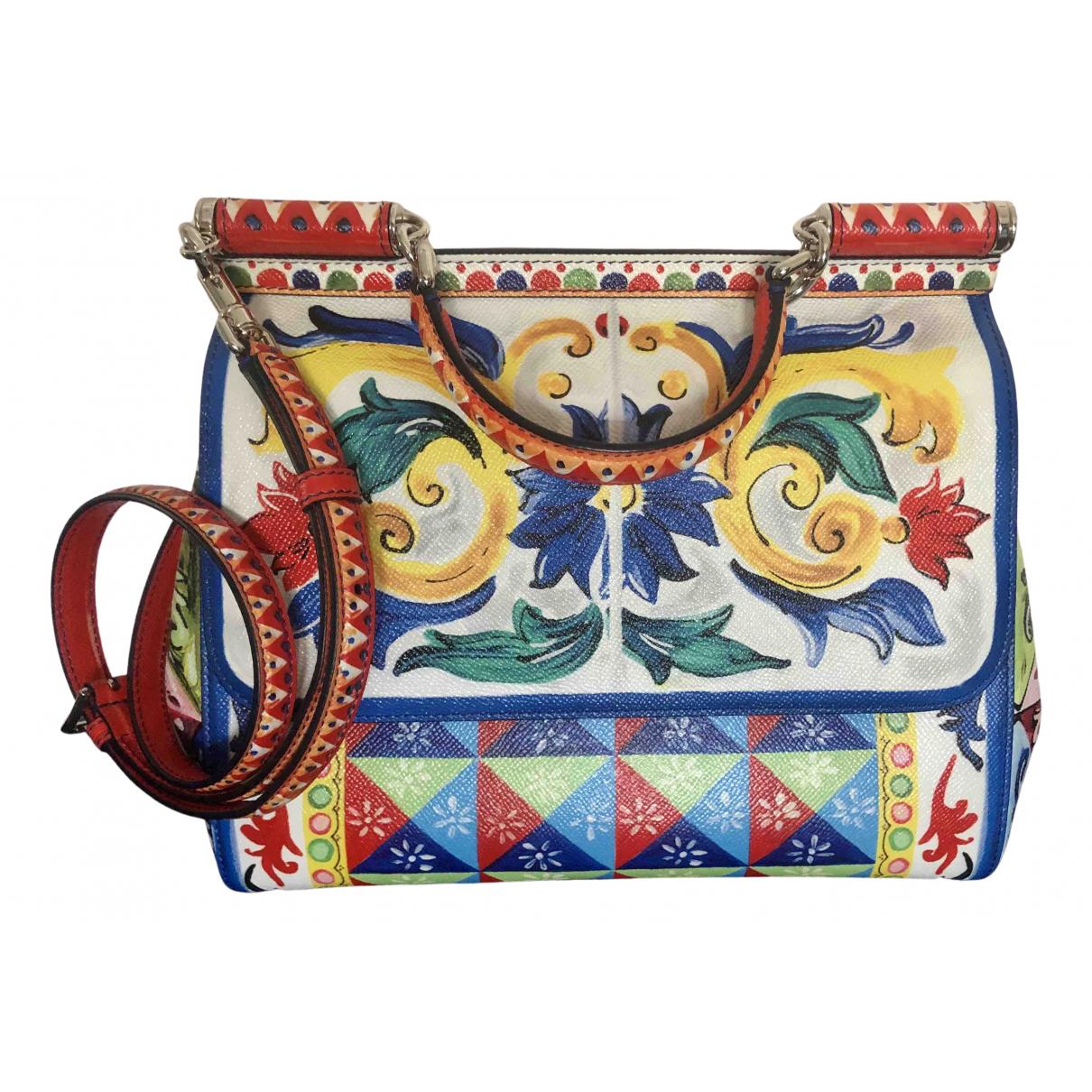 Dolce & Gabbana Sicily Handtasche in  Bunt Leder