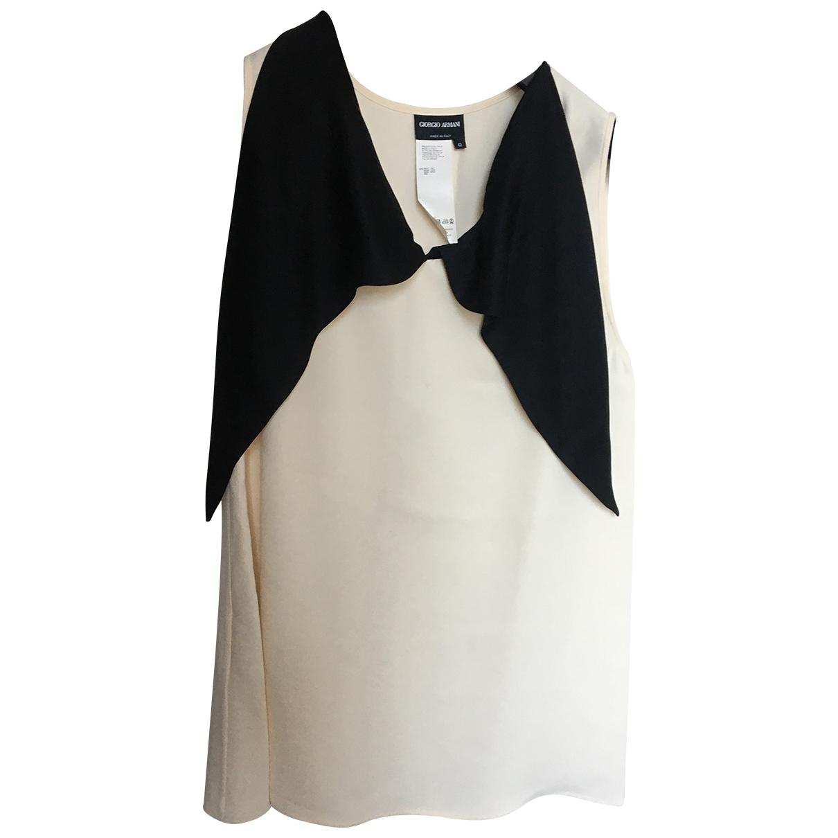 Camiseta sin mangas de Seda Giorgio Armani