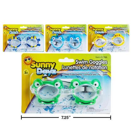 Conceptions d'animal de masque de natation d'enfants 3+, 1 couleur aléatoire par paquet