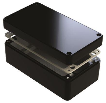 Deltron 486, Black Aluminium Enclosure, IP68, Shielded, 260 x 160 x 90mm