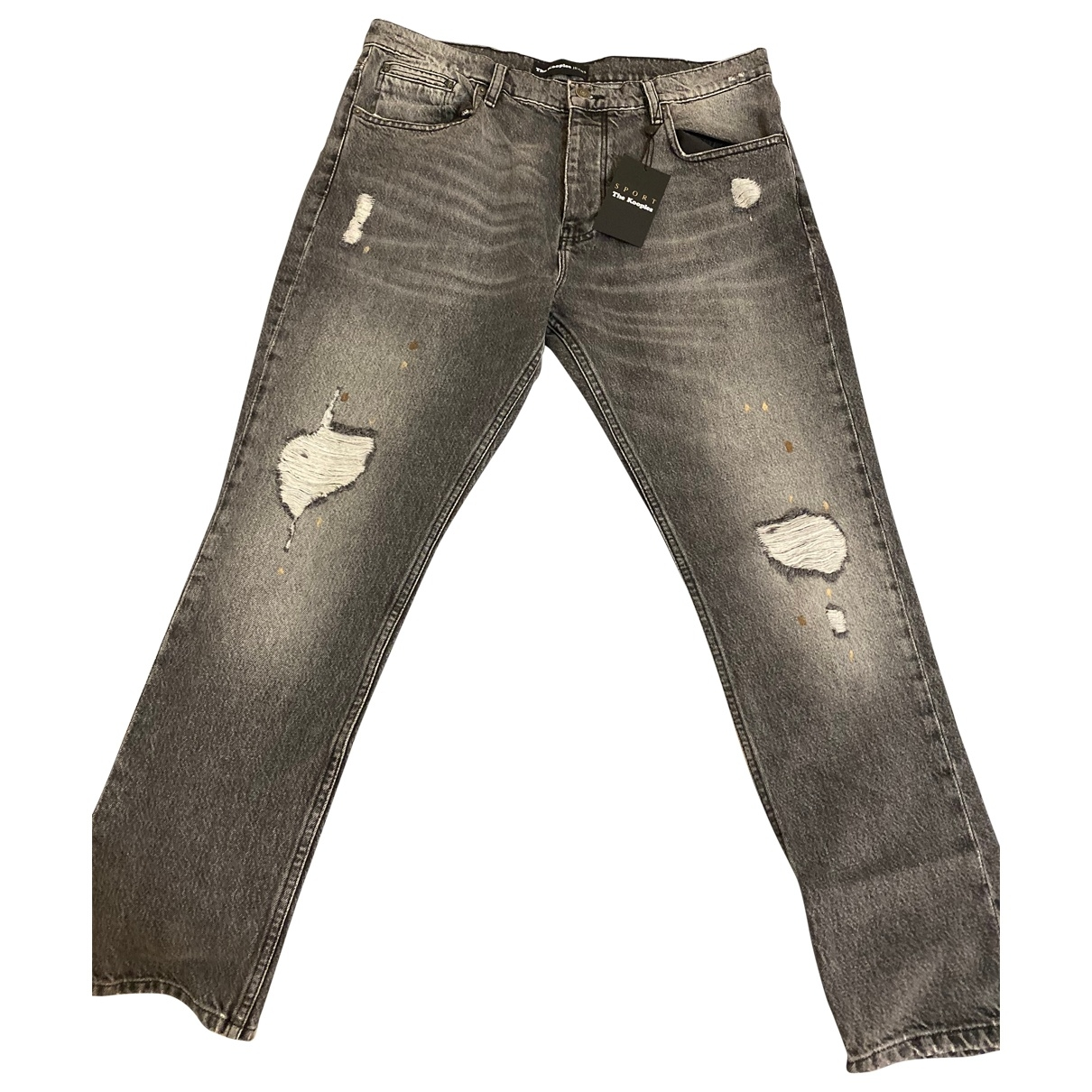 The Kooples Fall Winter 2019 Grey Cotton Jeans for Men 34 US