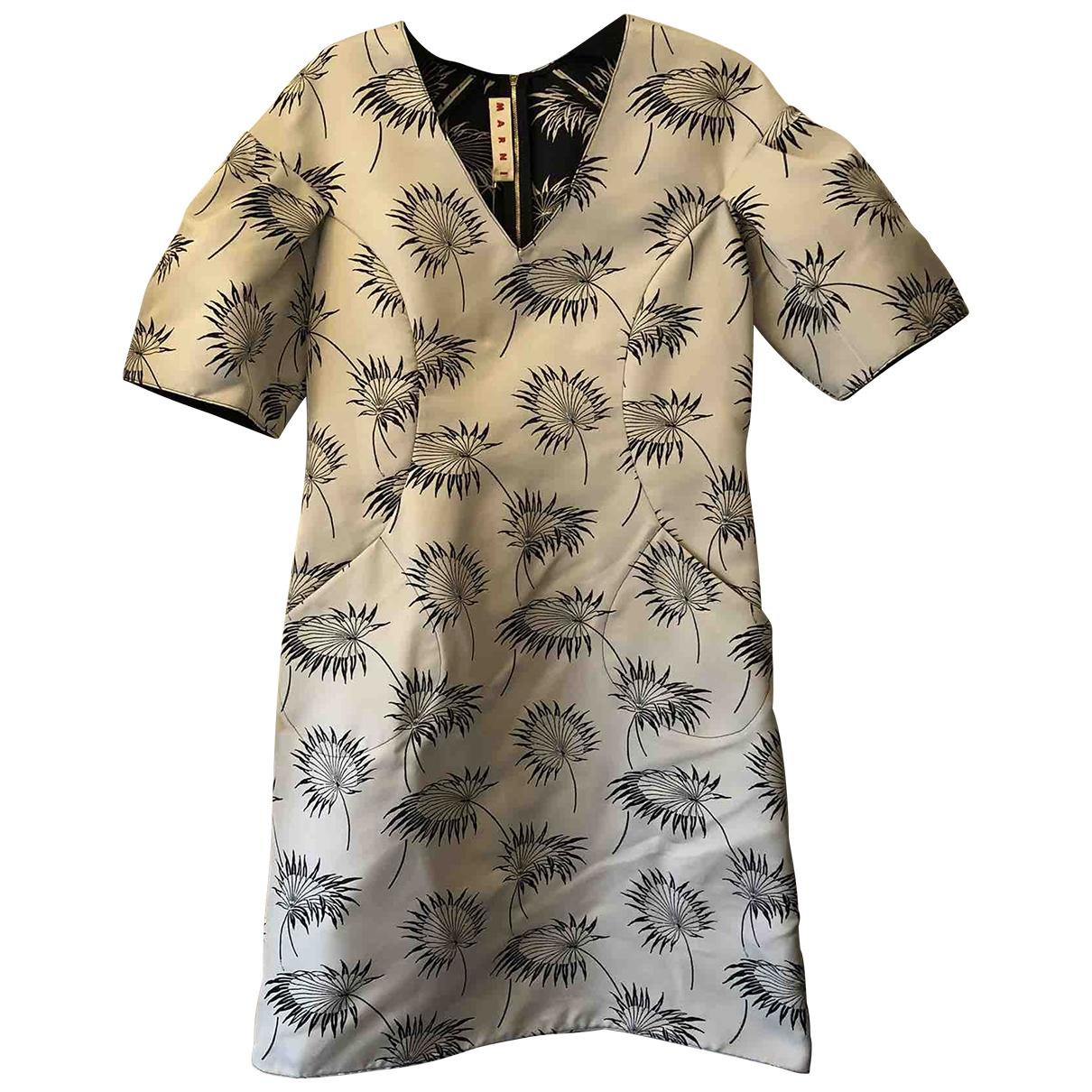 Marni \N Kleid in  Anthrazit Polyester