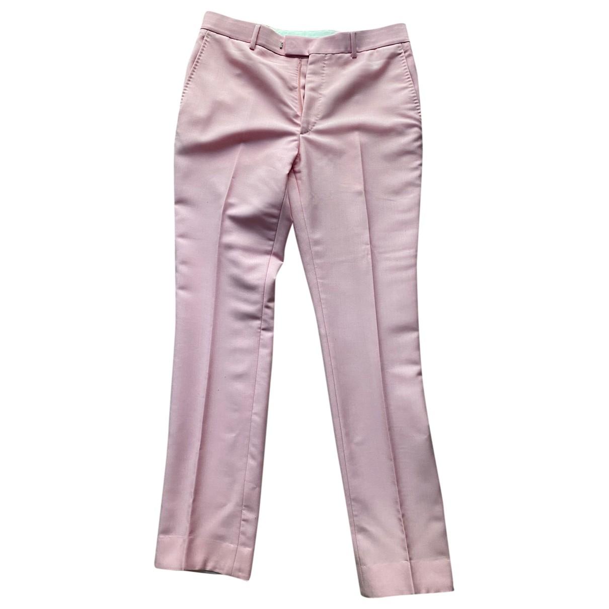 Calvin Klein 205w39nyc \N Pink Wool Trousers for Men 48 IT