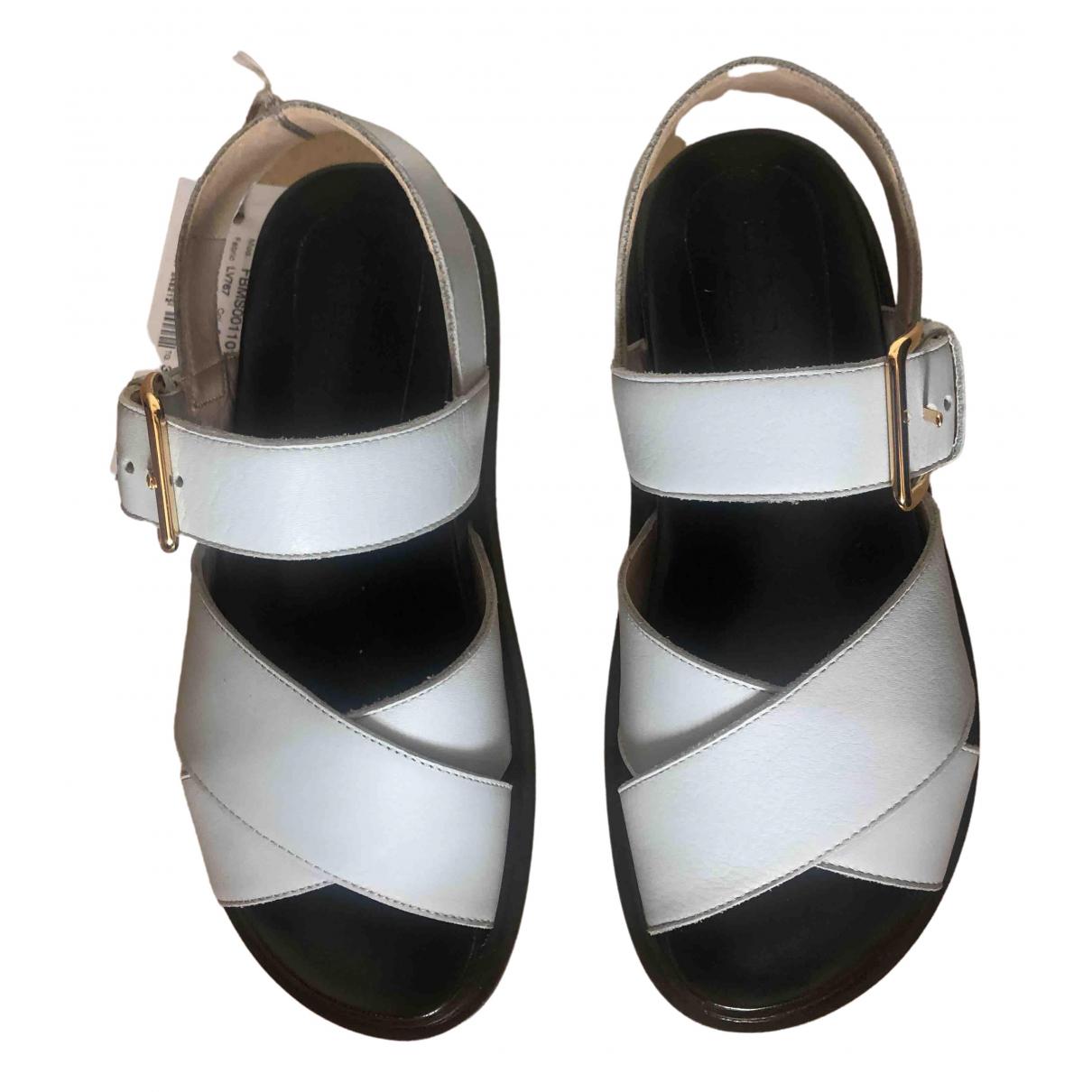 Marni \N Blue Leather Sandals for Women 36 EU